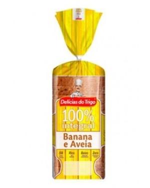 Pão Integral Delicias do Trigo Banana e Aveia 100% Integral 380g