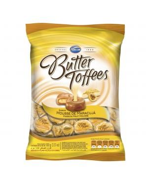 Bala Arcor Butter Toff Maracuja 100G