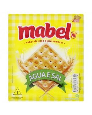 Biscoito Mabel 400G Agua Sal