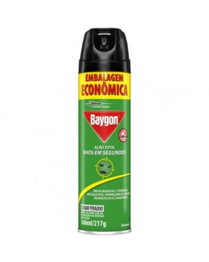 Inseticida Baygon Aero 360ml Ação Total