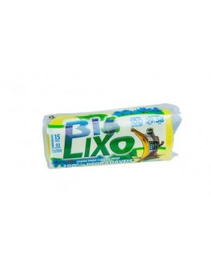 Saco para lixo Bio Ecológico Rolo 15L