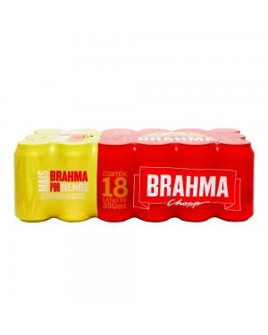 Cerveja Brahma Lata 350ml Caixa C/18