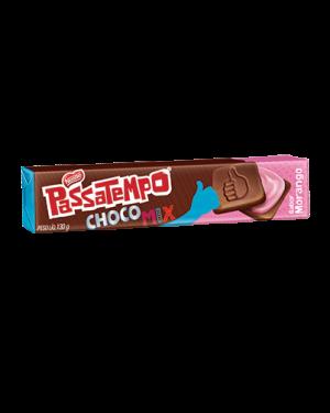 Biscoito Nestlé Passatempo 130G Recheado Choco Morango
