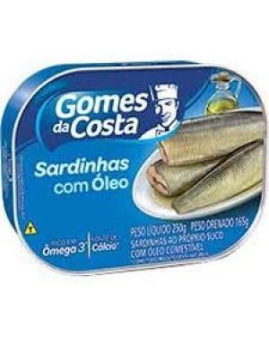 Sardinha Gomes Costa com óleo 165g