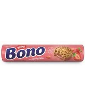 Biscoito Recheado Morango Bono Nestle 126G