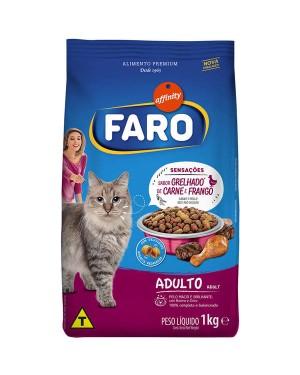 Ração Faro 1kg Adulto Grelhado Carne e Frango