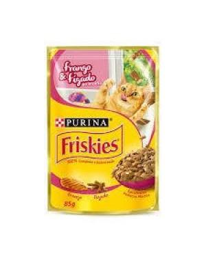 Ração Friskies 85g Frango e Figado ao Molho Sachet