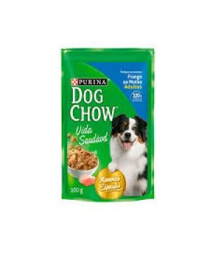 Ração Dog Chow 100G Sache Molho Frango
