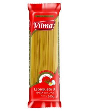 Macarrão Vilma Com Ovos 500G Espaguete 8