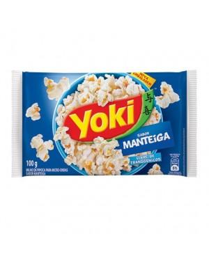 Pipoca Microondas Yoki 100G Manteiga