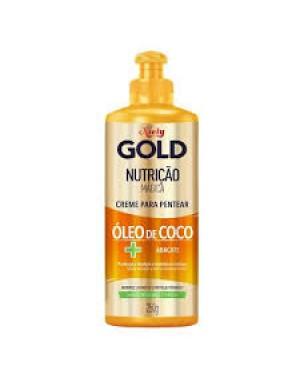 Creme Pentear Niely Gold 250g  Nutrição Magica com Oleo de Coco