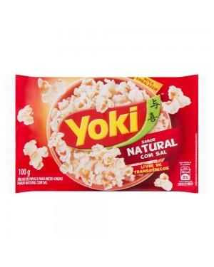 Pipoca Microondas Yoki 100G Natural com Sal