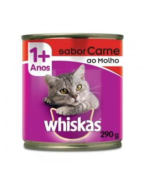 Ração Whiskas 290g Carne ao Molho