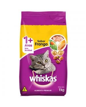 Ração Whiskas 1kg Frango
