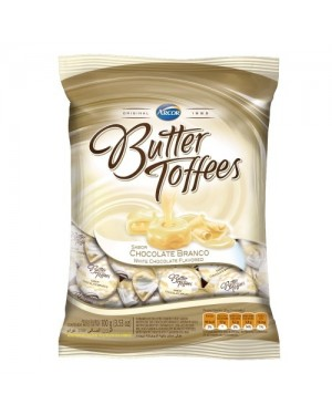 Bala Arcor Butter Toffe 100g Chocolate Branco