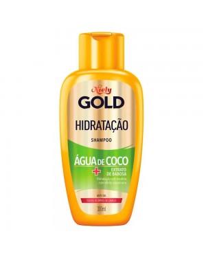 Shampoo Niely Gold 300Ml Hidratação Agua de Coco