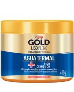 Mascara Niely Gold 430G Liso Pleno com Aguas Termais