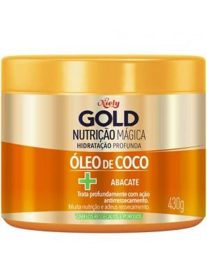 Mascara Niely Gold 430G Nutrição Magica com Oleo de Coco