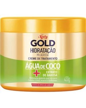 Mascara Niely Gold 430G Hidratação com Aguá de Coco