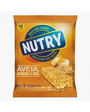 Barra Cereal Nutry 66G Aveia Banana Mel
