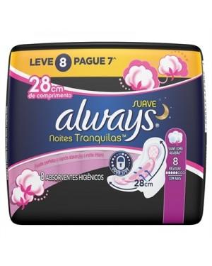 Absorvente Always Suave com Abas Noites Tranquilas Lev 8 Pag 7