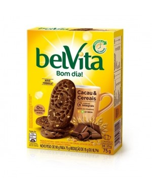 Biscoito Belvita 75g Cacau Cereais