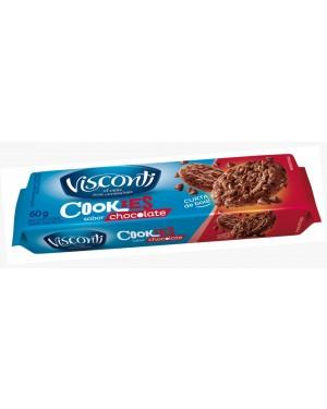 Biscoito Cookies Visconti 60G Chocolate