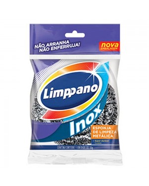 Esponja de Aço inox Limppano 1Unid