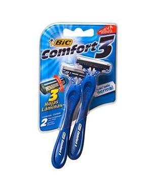 Aparelho Barbear Bic Comfort 3 CB Movel Normal 2und