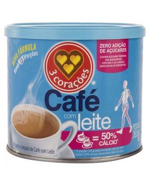 Cafe com leite 3 Corações  Zero 265G