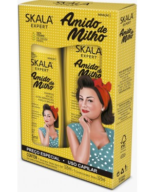 Kit Skala Shampoo + Condicionador Skala 325ML Amido de Milho