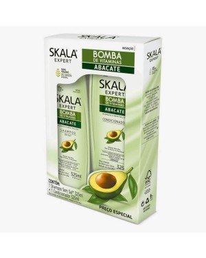 Kit Skala Shampoo + Condicionador Skala 325ML Bomba Abacate