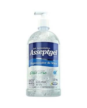 Álcool Gel Higienizador Mãos Start 1kg Asseptgel 70°