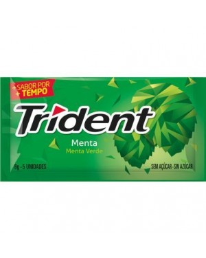 Chicle Trident Menta 8G 5 Unidades