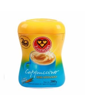 Cafe 3 Corações Cappuccino 200g Descafeinado
