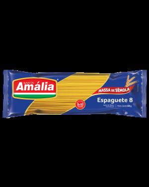 Macarrão Santa Amália 500G Sêmola Espaguete 8