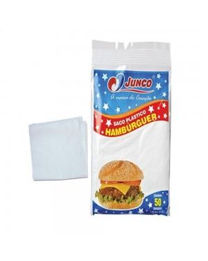 Saco Plastico Para Hamburguer Junco 50 Unidades