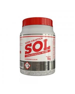 Soda Cáustica Sol 1Kg