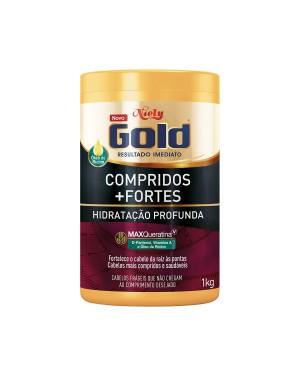 Mascara Niely Gold 1Kg Oleo Compridos Fortes Oleo de Ricino