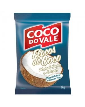 Coco Ralado do Vale 1Kg Úmido Adoçado Flocos