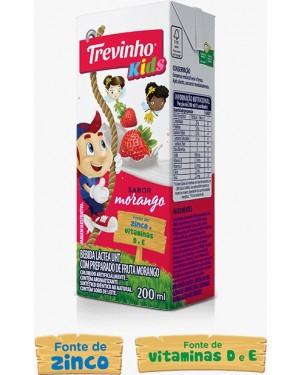 Bebida Lactea Trevinho Uht 200Ml Morango