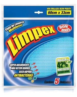 Pano Multiuso Limpex 5unid Azul