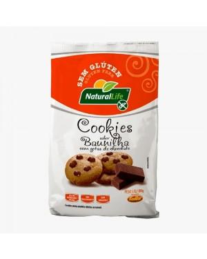 Biscoito Cookies Natural Life S/Glutem Baunilha gostas de Chocolate 180g
